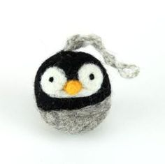 needle felted small penguin - from Woolbuddy                                                                                                                                                                                 More
