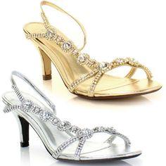 White Low Heels Weddings Shoe Strap Silver Low Heel Shoes Price