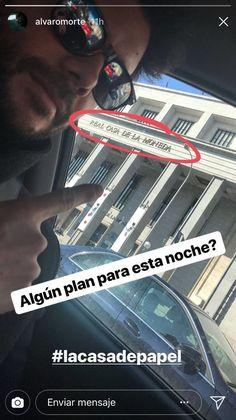 """La selfie de """"El Profesor"""" en Instagram. Genio!"""