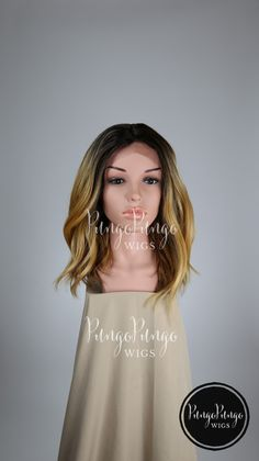 Blonde Ombre Wig /Lace Front Wig +Center Part/ Fashion Beauty Kylie Beyonce Costume Cosplay Dark Root Brown Halloween Drag /Lady Series ht08 by PungoPungo on Etsy