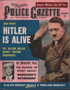 The National Police Gazette, December 1956. (Adolf Hitler; Rocky Marciano)