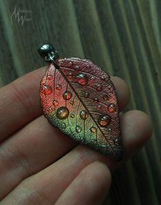 Leaf Jewelry, Fall Jewelry, Unique Jewelry, Witch Rings, Black Tree, Polymer Clay Charms, Animal Jewelry, Leaf Prints, Bohemian Jewelry