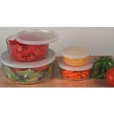 Glass Bowls with Storage Lids