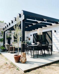 Patio Design, Backyard Patio, Pergola, Outdoor Structures, Goals, Outdoor Decor, Instagram, Yards, Home Decor
