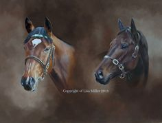 Frankel & Black Caviar Limited edition print from £80 Available on  my website