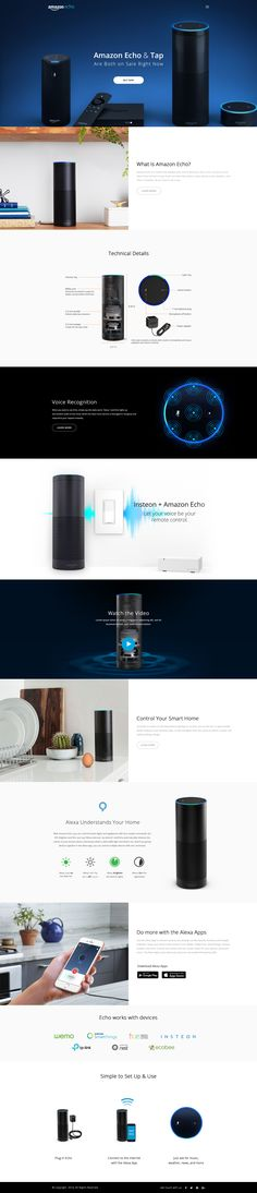 Website design from http://keithhoffart.weebly.com/contact.html Amazon Echo Landing Page Concept