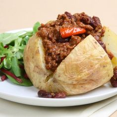 """""""Left-Overs"""" Stuffed Baked Potatoes ~ Reheat Any Left-Overs...(e.g... Beef Stew, Beef Stroganoff, Taco Filling, Spaghetti Meat Sauce, Chili, etc...)"""