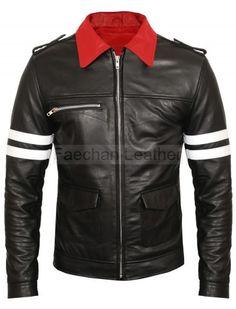 Designers Black Men's Leather Fashion Jacket