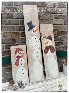 Upcycling aus Laminat-Resten - #Schneemann #Snowman #Schneefrau #Snow #Schnee #Winter #Winterdeko #Weihnachten #Christmas #xmas #Laminat #DIY #Handmade #bemalte Bretter #bemaltes Holz #painted wood #Malwasanderes #upcycling #https://www.facebook.com/Mal-was-anderes-360059960828712/