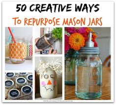 50 Creative Ways To Use Mason JarsMommypotamus |