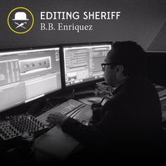 Outsider resident B.B. Enriquez holding it down in the editing room. #film #video #editing