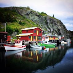 Quidi Vidi. Newfoundland. Watercolor Landscape, Landscape Art, Places Around The World, Around The Worlds, Glass Boat, Atlantic Canada, Boat Art, Newfoundland And Labrador, Quebec City