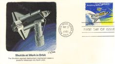 First Day Cover: Shuttle at Work First Day Covers, One Day, Space, Floor Space