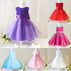 Retail 2015 new sleeveless Waist Chiffon Dress Girls Toddler 3D Flower Tutu Layered Princess Party Bow Kids Formal Dress
