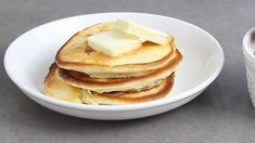 These souffle pancakes without baking powder are impossibly light and airy! Whipped egg whites act as a replacement for the baking powder in the pancakes and create an incredibly fluffy texture. This recipe can be whipped together in minutes! Homemade Pancakes Recipe Without Baking Powder, Easy Homemade Pancakes, Pancakes Easy, Souffle Pancakes, Egg White Pancakes, Making Pancakes, Fluffy Pancakes, Crepes, Waffle Recipes