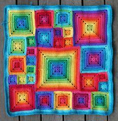 Transcendent Crochet a Solid Granny Square Ideas. Inconceivable Crochet a Solid Granny Square Ideas. Grannies Crochet, Crochet Squares, Crochet Afghans, Love Crochet, Crochet Baby, Knit Crochet, Crochet Patterns, Beautiful Crochet, Granny Squares