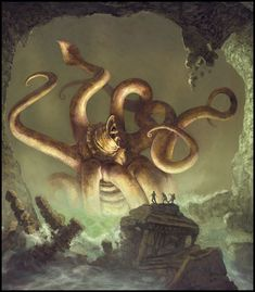 Another interpretation of the final scene of HP Lovecraft's 'Call of Cthulhu'.