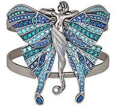 KIRKS Folly Isabella Butterfly Cuff Bracelet for sale online Butterfly Bracelet, Butterfly Jewelry, Moon Jewelry, Gems Jewelry, Jewelry Box, Antique Jewelry, Vintage Jewelry, Swarovski Butterfly, Jewelry Sites