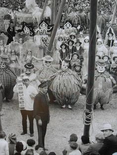 1931 Interior Of Circus Tent Matinee Elephants Performers 1930s vintage photo (1)
