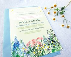 Country Flowers Stationery Set
