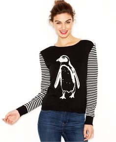 Kensie Sweater, Long-Sleeve High-Neck Penquin Sweater