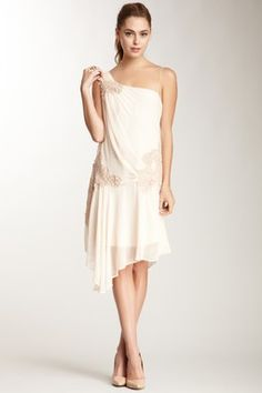 Gibson Girl One-Shoulder Dress
