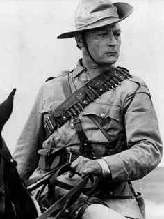 "Still of actor Edward Woodward portraying ""Breaker"" Morant a Bruce Beresford 1980 film . Morant's Court martial was one of the war trials during the Boer War and was executed by the British for killing enemy combatants and a civilians in Scouts Of America, War Film, See Movie, Military Pictures, Men In Uniform, Second World, African History, Military History, World War"