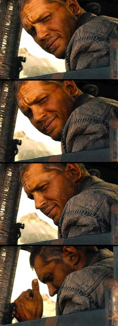 Tom Hardy - #MadMax My fave sexy face and thumbs up lol like you're ok lol