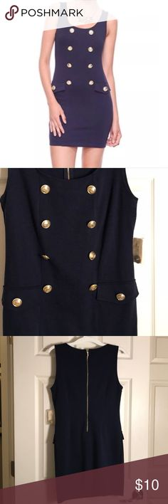Forever 21 Navy Sailor Dress NWT. Gold buttons. Navy color. Forever 21 Dresses