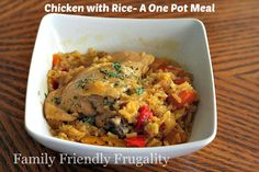 Chicken with Rice: A One Pot Frugal Family Meal!
