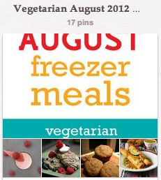 August freezer meals from Once a Month - so hard to find vegetarian freezer meals - YAY!