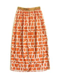 Dusen Dusen Long Skirt - Coral Cutouts by karin