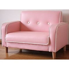 Pink Retro Kids Double Sofa Chair