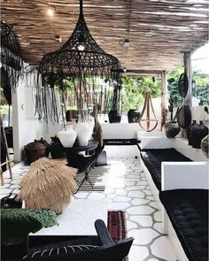 porches cozy home Cozy Boho Living Room Decor Ideas - Villa Design, Terrace Design, House Design, Deck Design, Landscape Design, Outdoor Rooms, Outdoor Living, Outdoor Decor, Outdoor Balcony