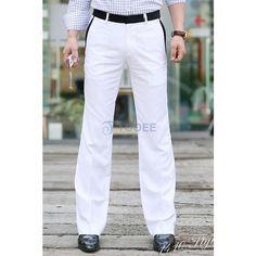 Fashionable White Slim Fit Casual Suit Pant - Suit Pants - Suits &... via Polyvore
