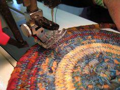 DIY homespun fabric clothesline basket