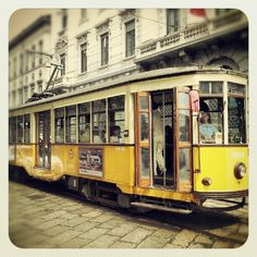 I used to take the cool old-fashioned tram #33 while studying in Milan, Italy 2003-2004