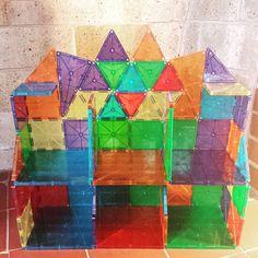 Today's job. #buildingstuff #nannytime #magnatiles #allthepieces #iwouldlivehere Steam Activities, Indoor Activities, Activities For Kids, Toddler Crafts, Preschool Crafts, Magna Tiles, Block Area, Tuile, Mini Gardens