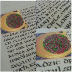 #calligraphy #uncial #initial AgaWęgrowska