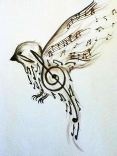 """Music Inspired Art   """"Where words fail, music speaks!""""   Music quote by Hans Christian Andersen #art #music_art #music_quotes"""