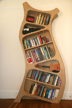 Curvy bookcase for my sons' room.