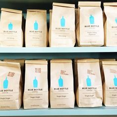 Blue Bottle Coffee, with the wait in line.