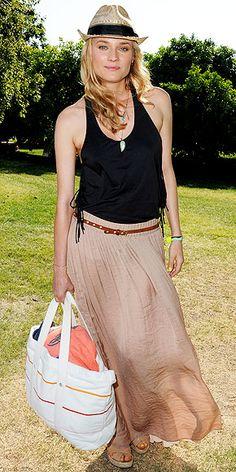 Diane Kruger preppie meets hippie