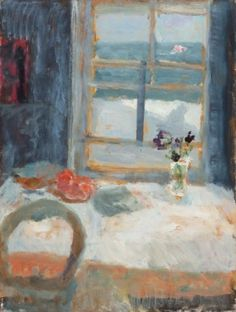 Alice Mumford - St Ives School of Painting Still Life in Window Flowers In Vase Painting, Still Life Artists, Impressionist Art, Impressionism, Mumford, Painting Still Life, Paintings I Love, Art For Art Sake, Klimt