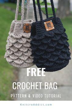 Free Crochet Bag, Crochet Pouch, Crochet Market Bag, Crochet Bags, Free Crochet Purse Patterns, Crochet Animals, Crochet Handbags, Crochet Purses, Crochet Crocodile Stitch