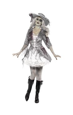Piraten Schätzchen Geisterkostüm | Zombie-Piratin als Minikleid | horror-shop.com