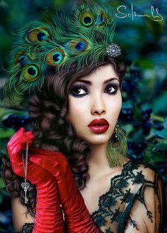 Awesome Digital Portraits by Katarina Sokolova-Latanska  irena