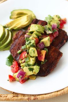 This Grilled Pork Chops with Avocado Salsa recipe is the perfect way to add bold, fresh flavor to your next grilling night or backyard barbecue! Grilled Pork Steaks, Pork Chop Marinade, Grilled Meat, Pork Chop Recipes, Grilling Recipes, Cooking Recipes, Cooking Ideas, Baked Avocado, Avocado Recipes