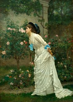 Stop and Smell the Roses, Herbert Arnold Olivier R.I., British artist.