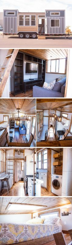 The Teton tiny house by Alpine Tiny Homes. - Home Decors-The Teton tiny house by Alpine Tiny Homes Tyni House, Tiny House Living, House Wall, Tiny House Movement, Tiny House Plans, Tiny House On Wheels, Tiny House Design, Home Design, Design Homes